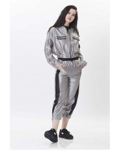 Gri Parlak Pantolon Ceket Takım